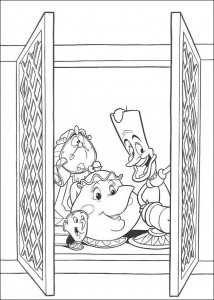 coloring page Belle and the Beast
