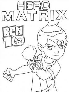 kleurplaat Ben 10 (2)