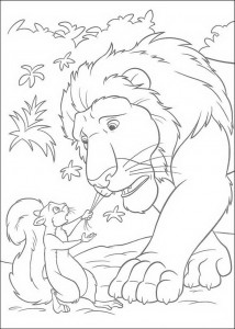 coloring page Benny and Samson