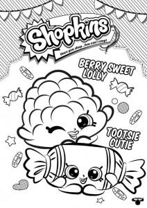 målarbok söta söta lollipop tootsie cutie