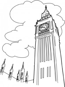 coloring page Big Ben, London