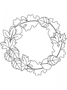 coloring page Leaves (10)