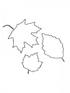 coloring page Leaves (14)