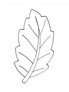 coloring page Leaves (4)