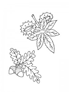coloring page Leaves (6)