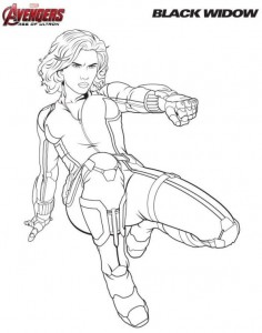 coloring page Black widow