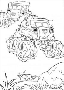 kleurplaat blaze-en-monsterwielen-05