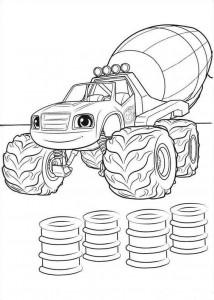 blaze-och-monster-hjul-10 målarbok