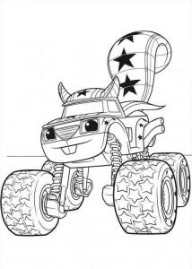 blaze-och-monster-hjul-13 målarbok
