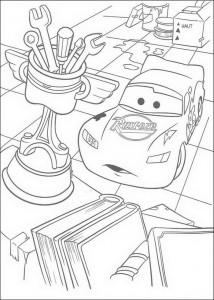 målarbok Lightning tänker Piston Cup