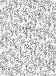 kleurplaat Bloemen voor volwassenen (10)