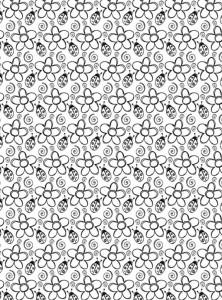 kleurplaat Bloemen voor volwassenen (4)