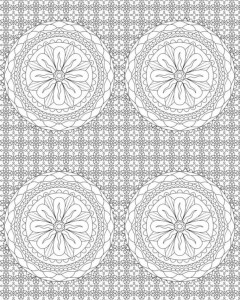 coloring page Blomster for voksne (5)