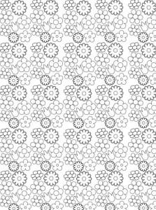 kleurplaat Bloemen voor volwassenen (6)