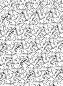 coloring page Flowers for adults (9)