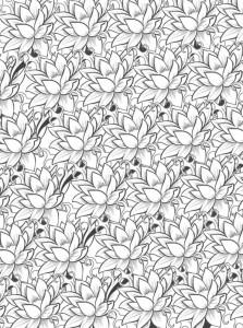 kleurplaat Bloemen voor volwassenen (9)