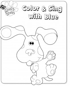 målarbok Blues Clues (1)