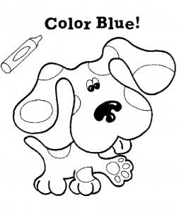 målarbok Blues Clues (2)