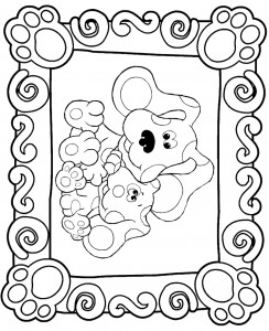 coloring page Blues Clues