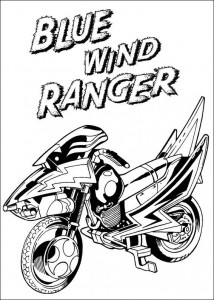 coloring page Blue wind ranger