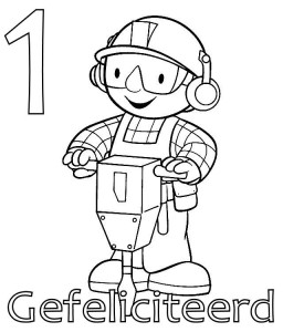 coloring page Bob the Builder 1 year