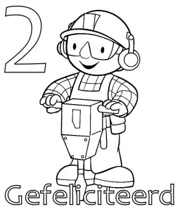 coloring page Bob the Builder 2 year