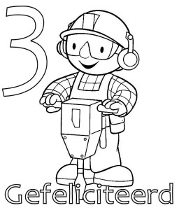 coloring page Bob the Builder 3 year