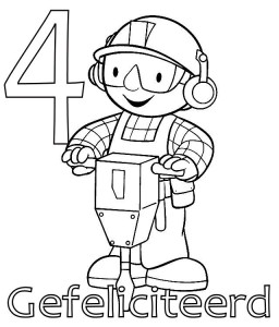 coloring page Bob the Builder 4 year
