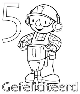 coloring page Bob the Builder 5 år