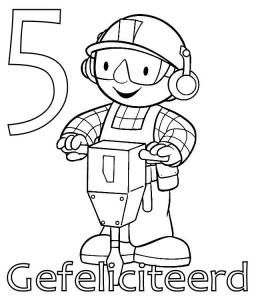 målarbok Bob the Builder 5 år