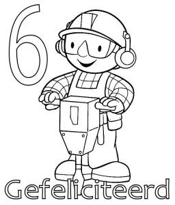 målarbok Bob the Builder 6 år