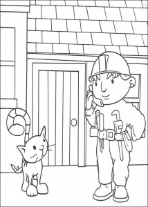 coloring page Bob the Builder and Titus
