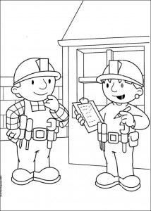 coloring page Bob the Builder and Wendy
