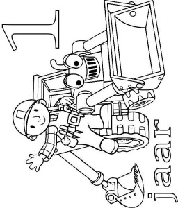 coloring page Bob and Scoop 1 year