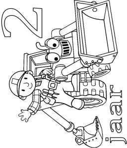 coloring page Bob and Scoop 2 year