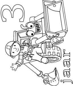 coloring page Bob and Scoop 3 year