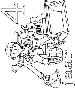 coloring page Bob and Scoop 4 year
