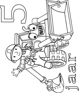 coloring page Bob and Scoop 5 year