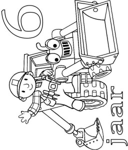 coloring page Bob and Scoop 6 year