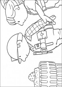 coloring page Bob and Wendy view the nest