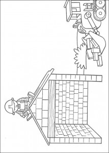 coloring page Bob on roof (1)