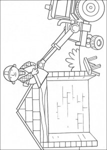 coloring page Bob on the roof