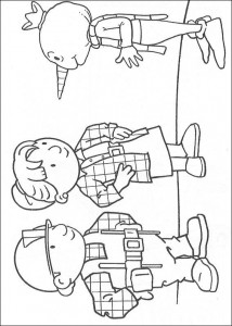 coloring page Bob, Wendy and the scarecrow