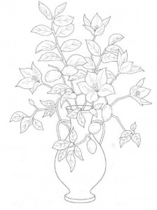 coloring page Bouquets