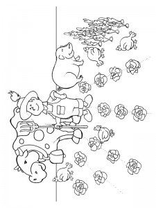 coloring page Boer
