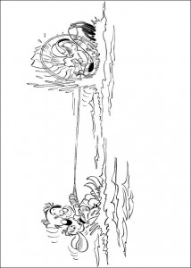 coloring page Bollie and Billie waterskiing