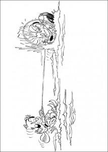 målarbok Bollie och Billie vattenskidor