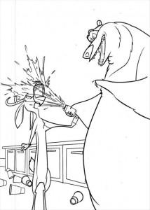 målarbok Bow kastar en ny burk i Elliot ansikte