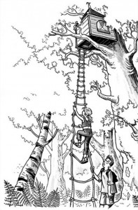 coloring page Tree houses (1)