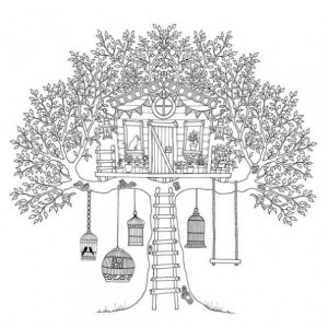 coloring page Tree houses (10)